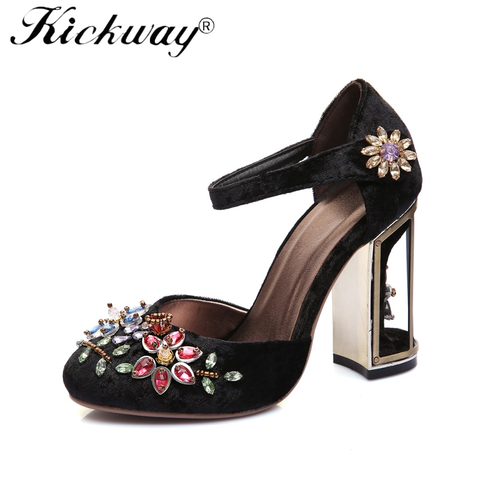 Kickway Plus Size 34 41 Ankle Strap Buckle Ethnic Wedding Shoes ... 9ec07a30e846