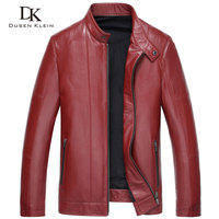 Luxury Red Leather Jacket men Dusen Klein Brand New Spring Outerwear Slim/Simple Business Style/Genuine leather Coats 15Z1506