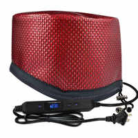 HOT!Electric Heating Hair Dryer Cap Timing Adjustable Temperature With Lcd Monitor Evaporation Cap Steamer Cap For Home Barber