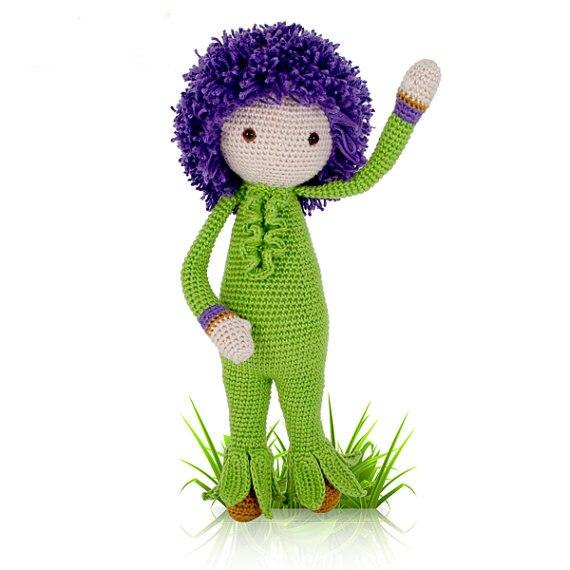 Crochet amigurumi boneca de cebola gigante Otto