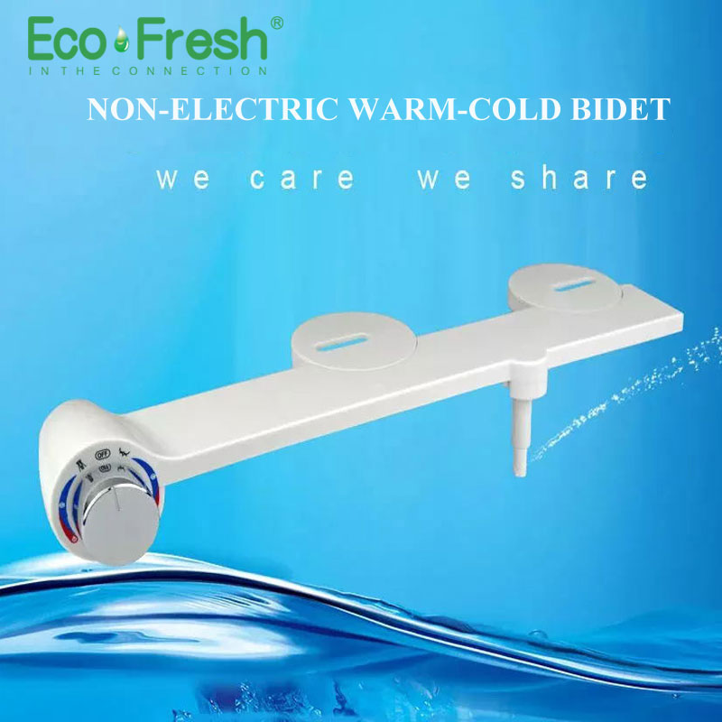 Ecofresh Hot Cold Water Non-Electric simple Toilet Seat Bidet Sprayer Nozzle Toilet Seat Gynecological Washing shower toilet seat