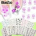 BlueZoo 50 Hoja/pack DIY Calcomanías de Uñas De Transferencia de Agua Nail Art Stickers Cartoon Animal Planta de Flor Envolturas de Uñas de Manicura pegatinas