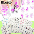 BlueZoo 50 Sheet/pack DIY Water Transfer Nail Decals Nail Art Stickers Cartoon Animal Flower Plant Nail Wraps Manicure Stickers