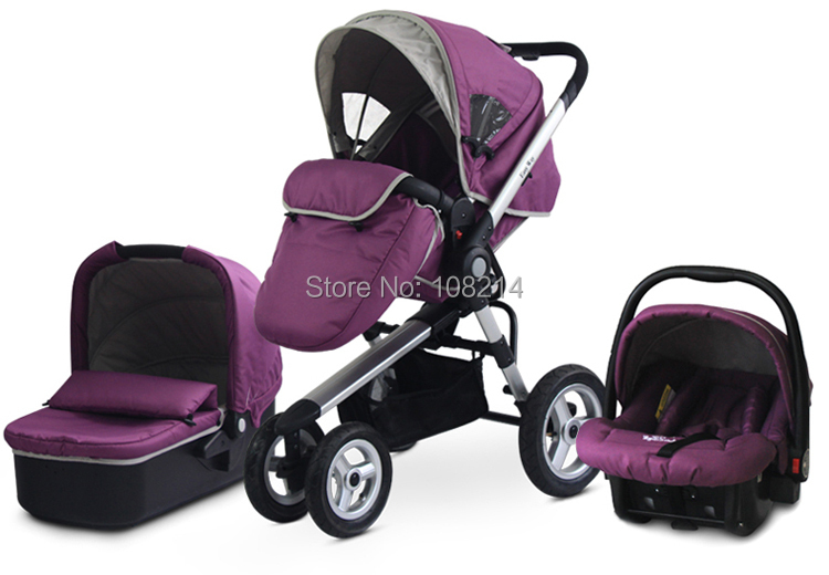 Baby Carrier Strollers Inflatable Wheels Convenient Folding Stroller