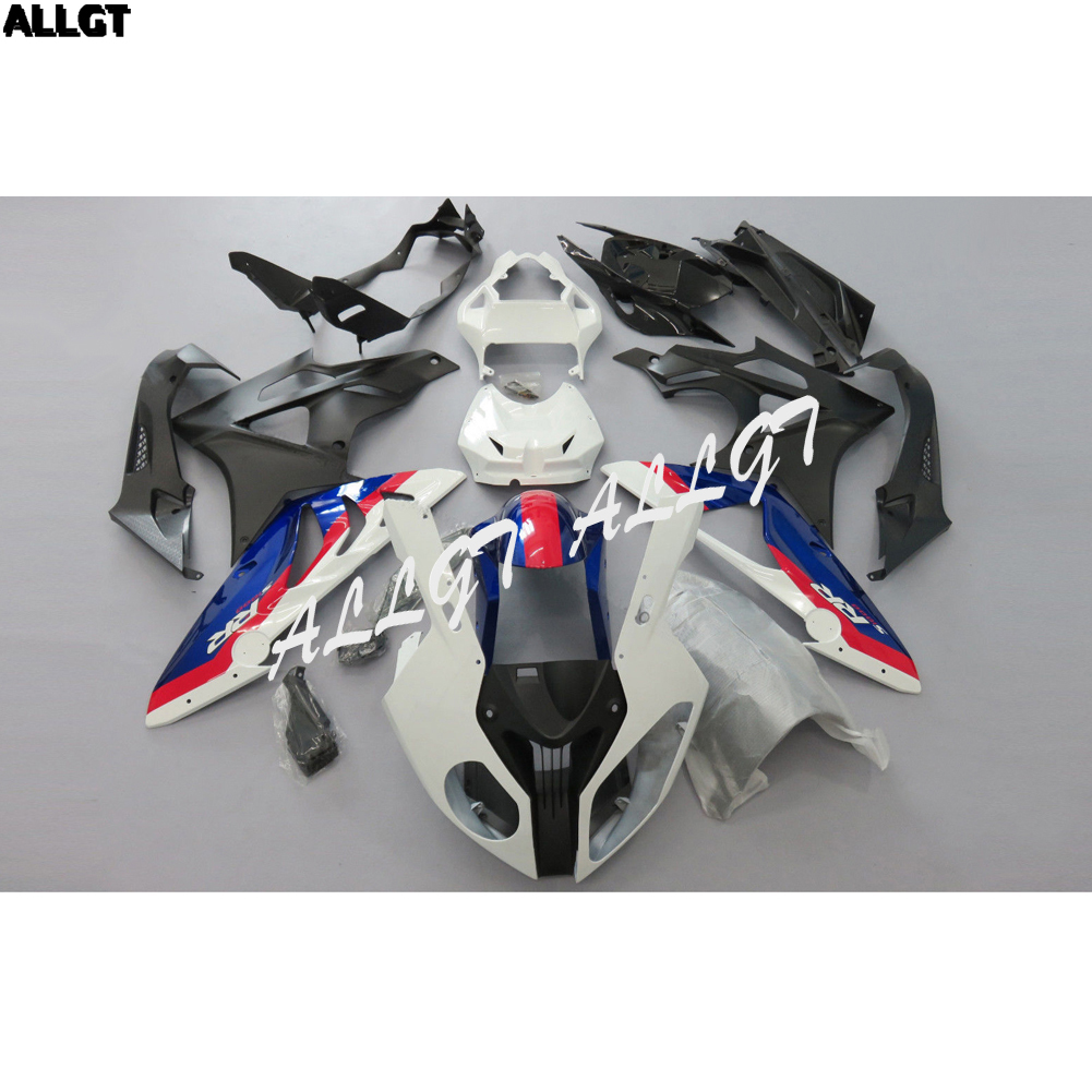 Injection White Black Red Fairing Kit BodyWork for BMW S1000RR 2010 2011 2012