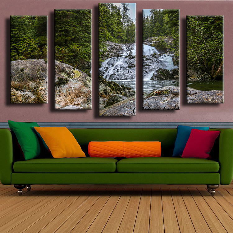 5 Panel Rustic Beauty Wall Painting For Home Decor Oil Painting Wall Art Print Canvas No