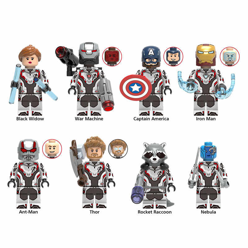 The Avenger Heroes Quantum Battle Suit DIY Model Building Blocks Kit Iron-Man Captain Thor Rocket Raccoon Toys Gifts