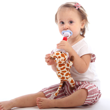 Baby pacifier toy Dog weasel giraffe bear tiger funny personalized pacifier silicone stuffed animal pacifiers soother holder cute newborn silicone funny baby pacifier clips chain animal pacifiers with plush toy soother nipple dog monkey worm anz01