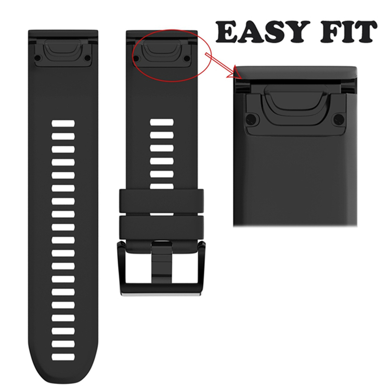 cheapest Watchband Strap for Garmin Fenix 5 5X Plus 3 3HR Fenix 6X 6 6S Watch Strap Quick Release Silicone Band For Forerunner 935 Band