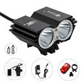 12000mAh battery 6000 Lumens 2x XM-L U2 LED Cycling Bike Bicycle Light Led Lamp HeadLight Headlamp & Rear light Free Shipping