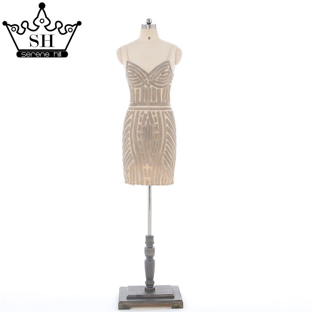Buy nude bead crystal dress and get free shipping on AliExpress.com f50aad8dee2d