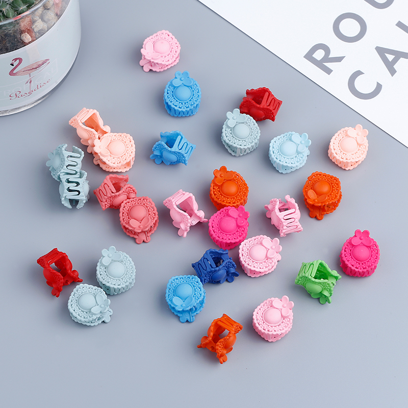 2019New Korean Hair Accessories Children's Tiara Baby Small Catch Princess Bangs Clip Frosted Flower Issued Hairpin Clips 20pcs