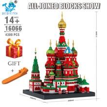 4300 шт Мини архитектурные блоки модель нано строительные игрушки святого Василия собора для детей Совместимые LegoING город 16066