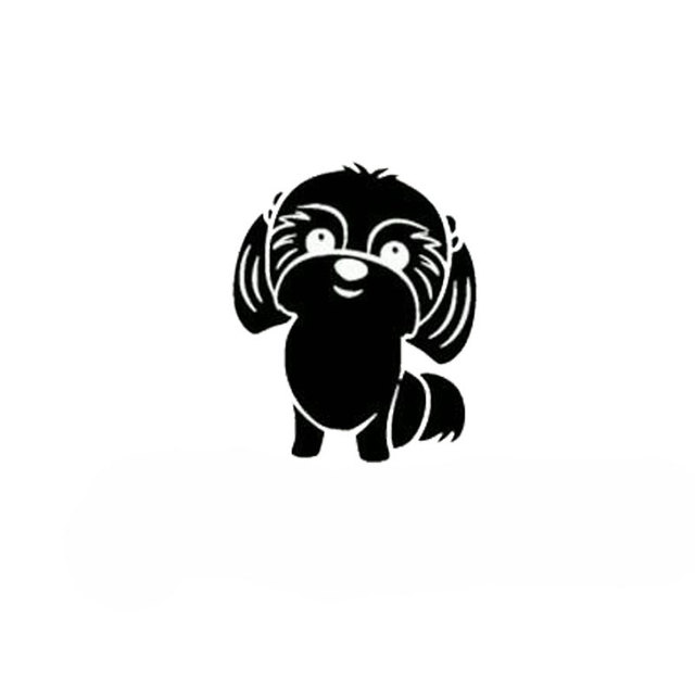 14.7cm*18.2cm Car Styling I Love Shih Tzu Dog Funny Cartoon Car Stickers S5-0308