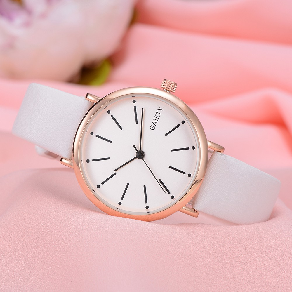 2018 New Womans rosefield in watches women Fashion Leather Band Analog Quartz Round Wrist Watch Watches 8.31