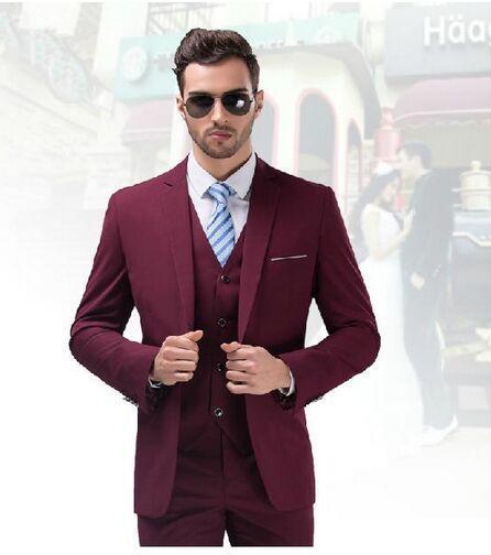 Men Wedding Ideas: 2017 High Quality Burgundy Wedding Tuxedo For Men Business