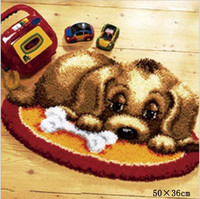 DIY Craft Home Decoration rug Crocheting Yarn Mat Latch Hook Rug Floor Mat Cartoon Dog Carpet