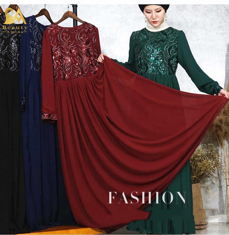 f31b7f184401a Luxury Embroidery Abaya Lace Stitching Muslim Maxi Dress Sequins Cardigan  Long Robes Jubah Kimono Ramadan Arab Islamic Prayer