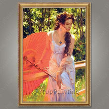 Spanish Flamenco Dancer painting latina woman Oil painting on canvas hight Quality Hand-painted Painting latina 34