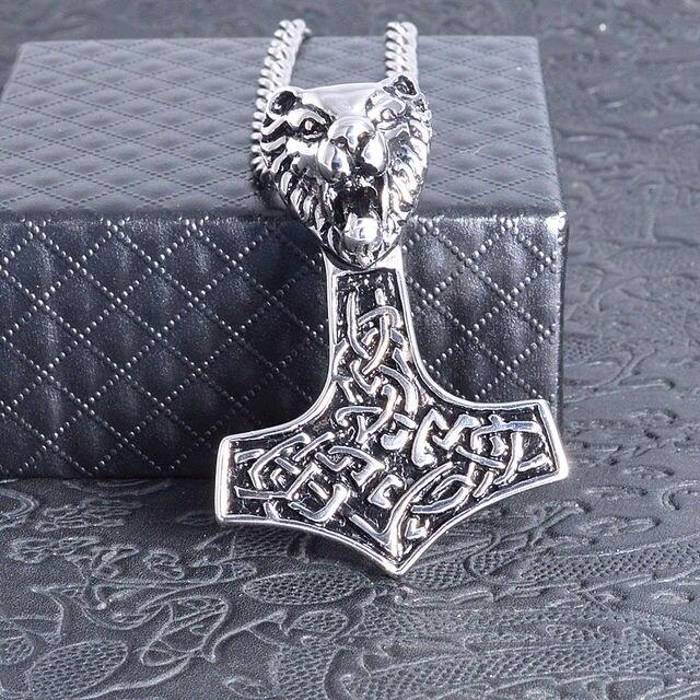 Men's Viking Bear Titanium Steel Pendant