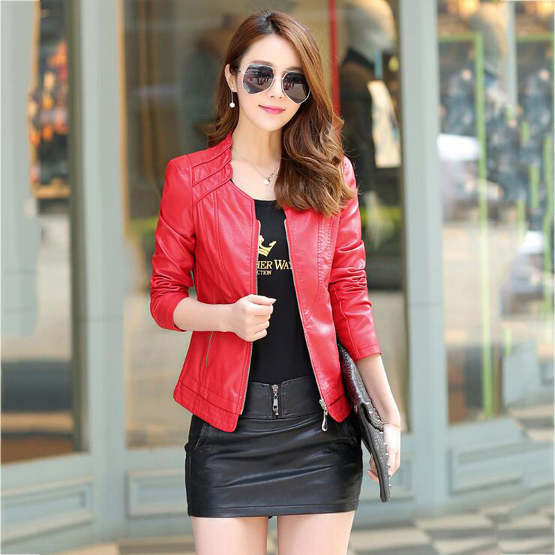 0585c93b5 Lovely Black/Red women leather suit dress leather jacket and skirt ...