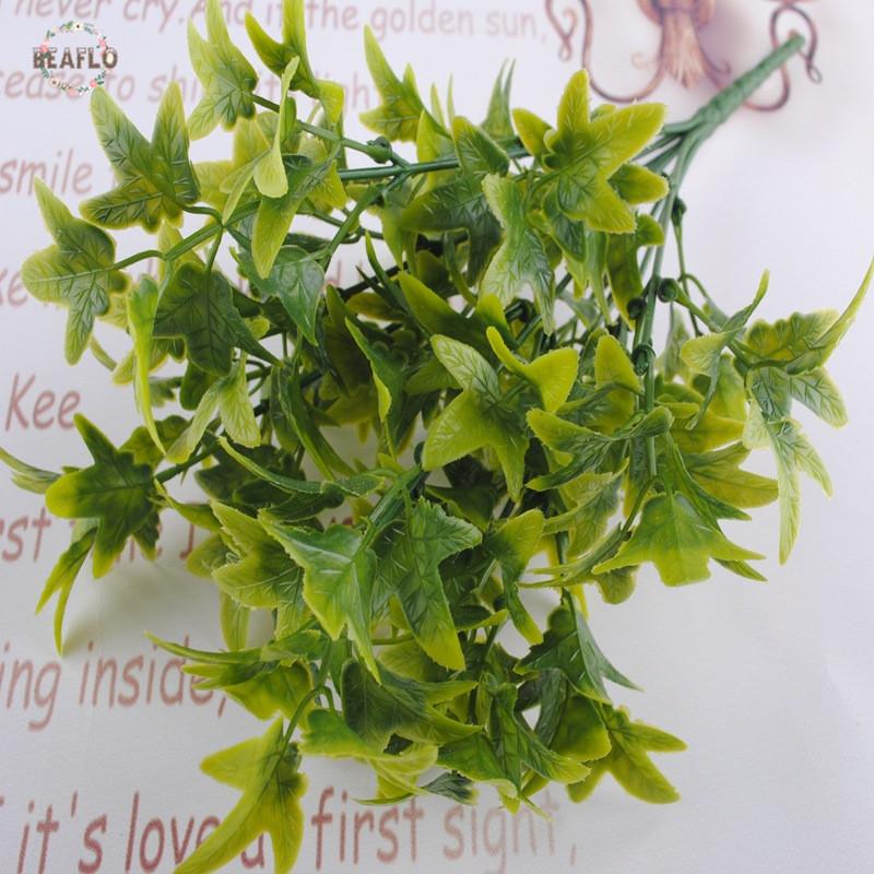 1 Bündel Green Maple Leaves Mini Baum Künstliche Pflanze Floristik  Anordnung Hochzeit Hause Dekorative(China