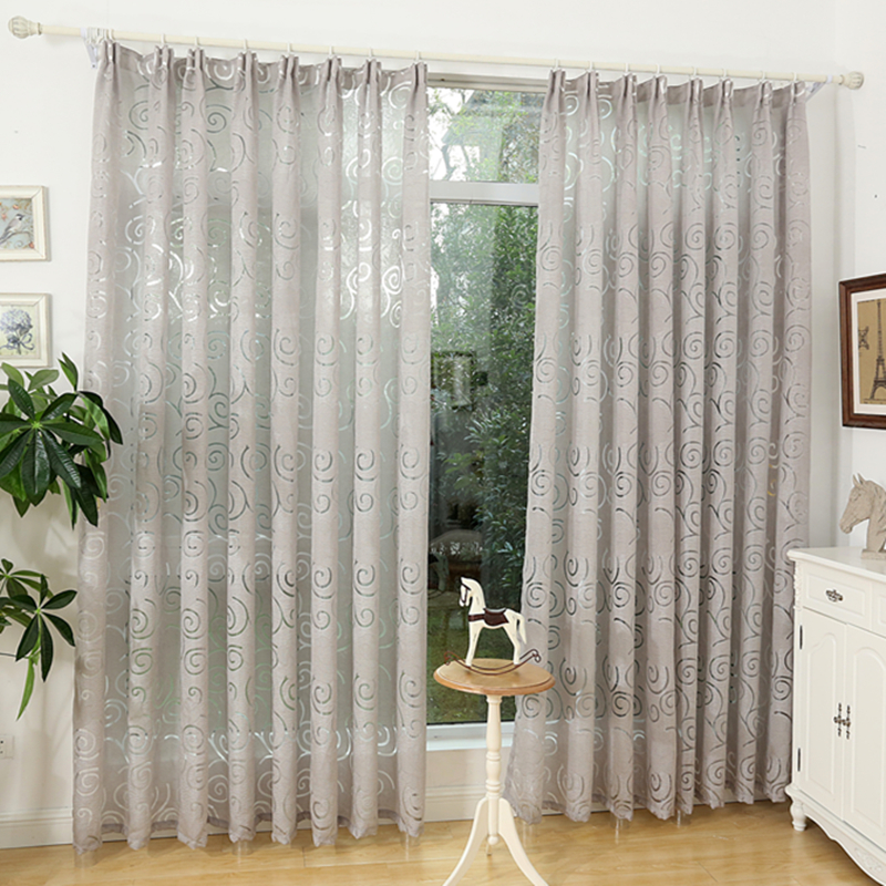 Free Shipping Jacquard 3d Geometric Pattern Pattern Decorative Curtains For Living Living