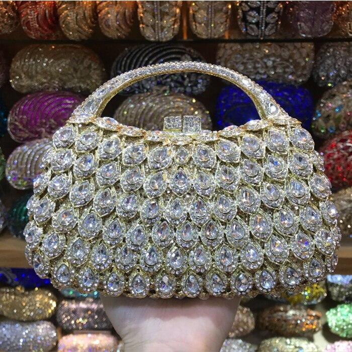 5fd5c67c464b women Christmas gift items bag women evening bags luxury crystal clutch  purse horned gold rhinestones day
