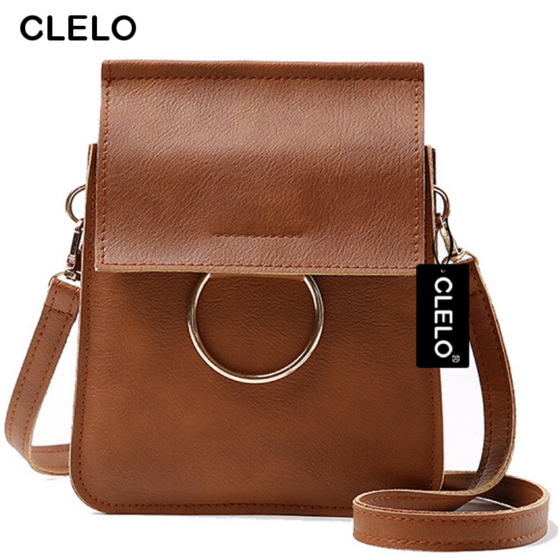 CLELO 2017 Hot Sale Small Women Bag Pu Leather Female Messenger Crossboby Bags High Quality Shoulder Bag For Girls Fahion Design clelo brand women messenger bag 2017 high quality pu shoulder bags soft flap with hair ball crossbody bags for female girl lady