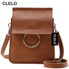 CLELO Women Messenger Bag Luxury Handbags Women Bags Designer Fashion Mini Bag With Metal Ring Women Crossbody Shoulder Bags