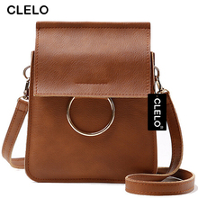 CLELO Women Messenger Bag Luxury Handbags Women Bags Designer Fashion Mini Bag With Metal Ring Women Crossbody Shoulder Bags