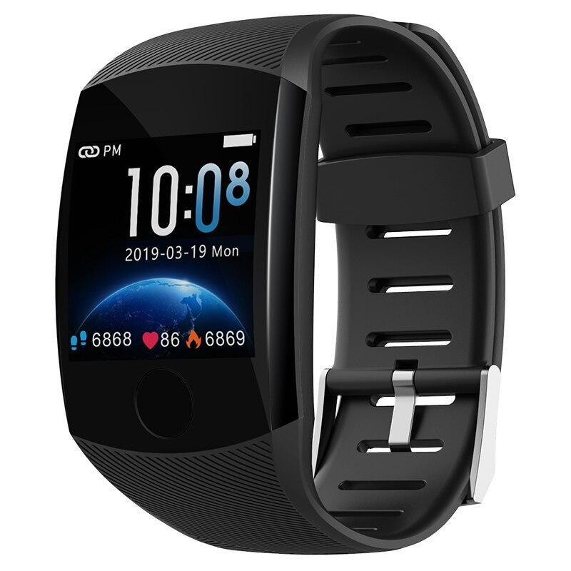 Q11 montre intelligente étanche Bracelet de remise en forme grand écran tactile Message rappeler fréquence cardiaque temps Smartband activité Tracker Bracelet
