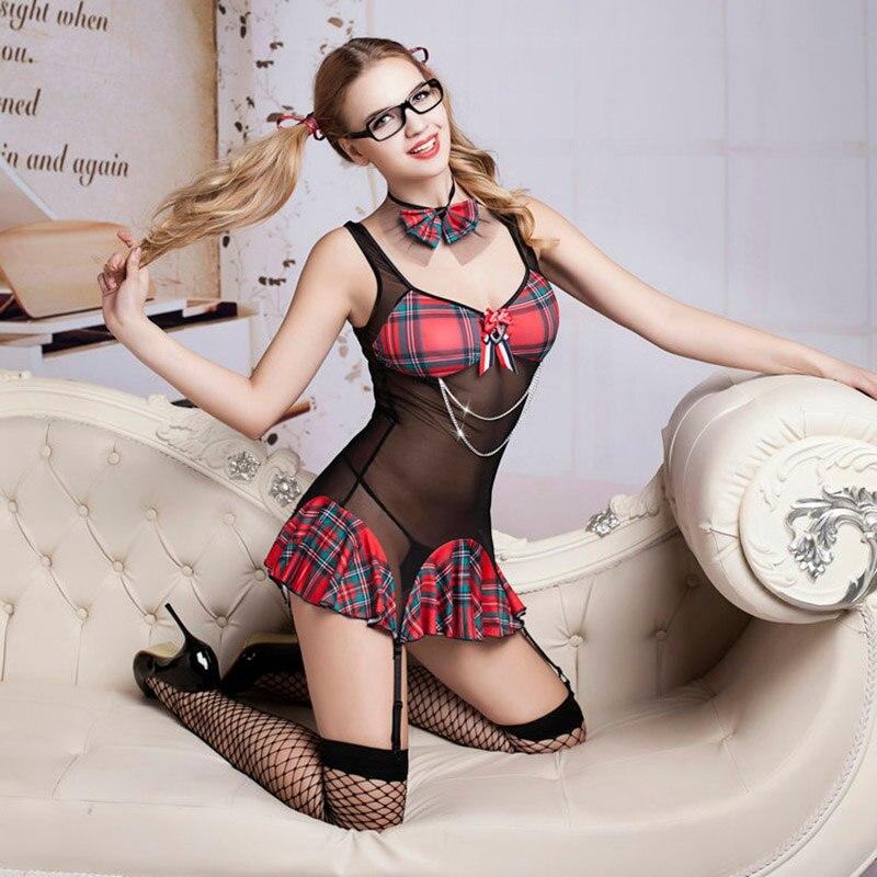 Buy New Porn Women Babydoll Lingerie Sexy Hot Erotic Student Uniform Cosplay Tenue Sexy Underwear Erotic Lingerie Porno Costumes