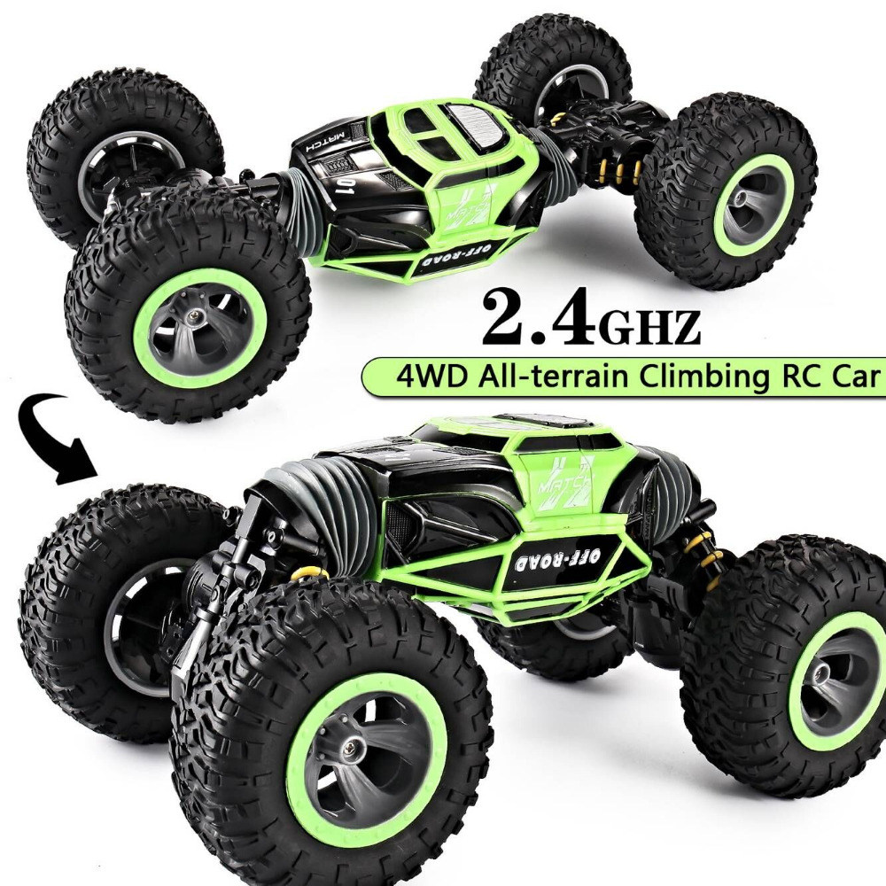 RC Car 4WD Truck Scale Double sided 2.4GHz  One Key Transformation All terrain Vehicle Varanid Climbing Car Remote Control Toys-in RC Cars from Toys & Hobbies