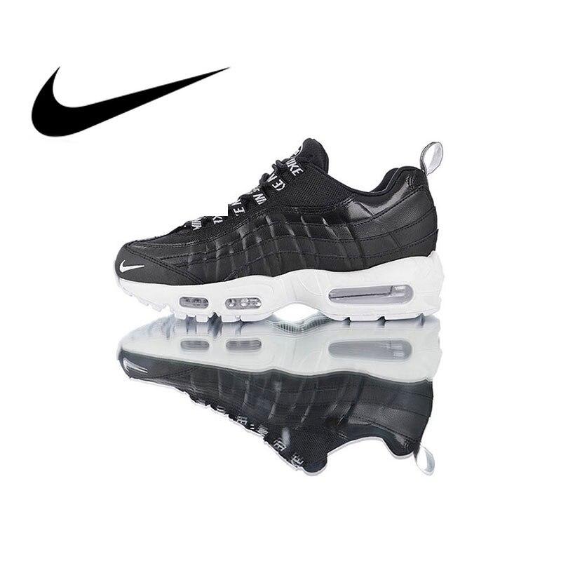 7801364b Оригинальный Nike Оригинальные кроссовки Air Max 95 Premium Для мужчин; спортивная  обувь для бега дышащие кроссовки уличные 2019 Новое поступление .