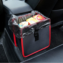 Portable Foldable Trash Bin Wastebasket Storage Box Can Cars Use Rubbish Container Car Garbage Bag Hanging