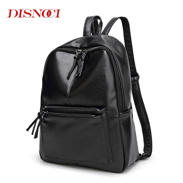 79c88a88b772 DISNOCI New Travel Backpack Korean Women Backpack Leisure Student Schoolbag  Soft PU Leather Women Shoulder Bag for College Girls