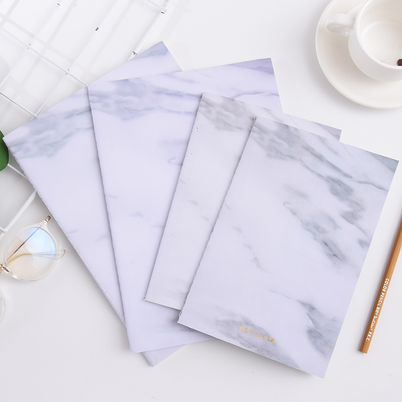 MIRUI Pick Up Time Gift Nordic Minimalist Hand Book Blank Diary B5 Marble Texture Cover Notebook