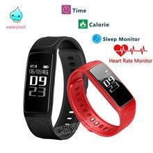 Smart Браслет C7S сердечного ритма Приборы для измерения артериального давления мониторинг калорий Водонепроницаемый Спорт браслет для IOS Android SmartBand