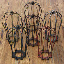 Industrial Vintage Antique Lamp Covers Metal Wire Pendant Bulb Chandelier Cage Ceiling Hanging Guard Cafe Bars Lamp Shades(China)