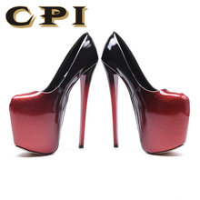 20cm Patent Leather Sexy Shoes Platform Pumps Sexy Ultra super High Heels Women's Party Pumps Wedding Shoes big size 43 NY-05