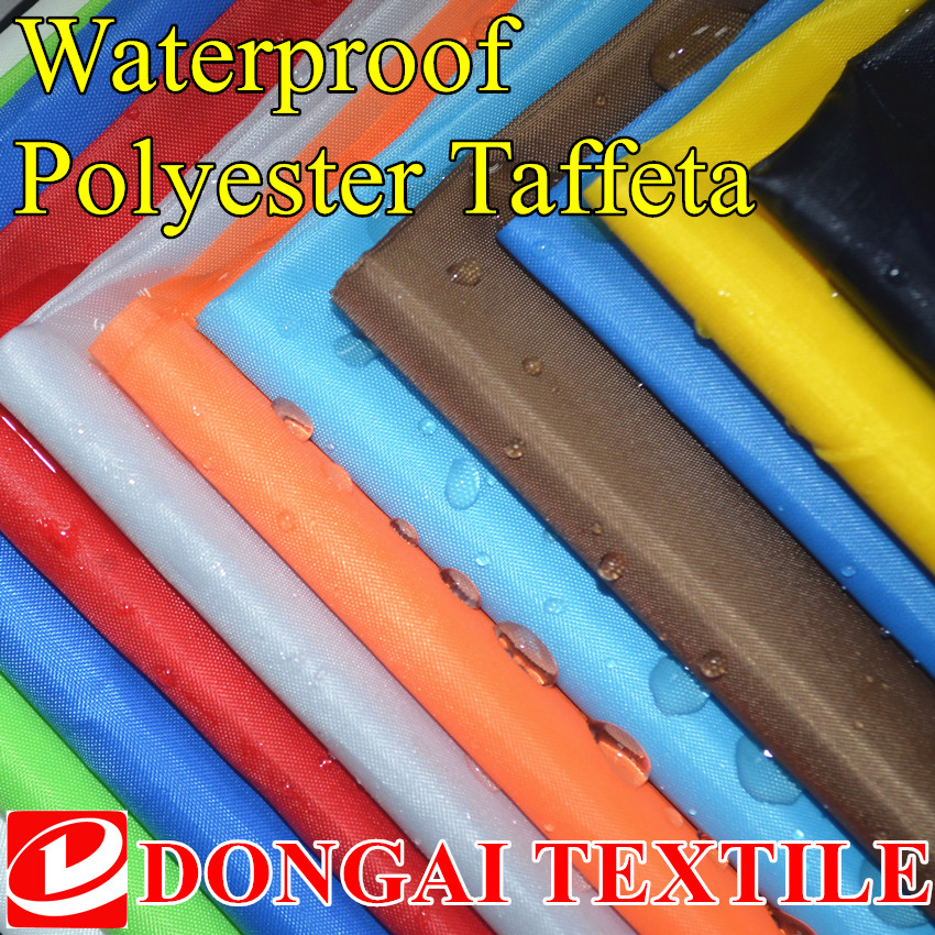 size 1*1.5 meter width Polyester Taffeta Waterproof  fabric with pu coating for kite fabric. umbrella fabric.diy Handmade fabric