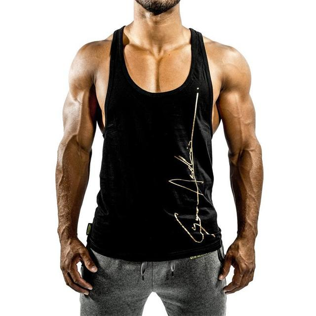 2018 Fitness Men Tank Tops Sleeveless Gyms Clothing Singlet Cotton Shirts Summer Fashion Workout Clothes