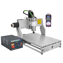 Industrial wood engrave machine cnc router 6040 2200W with handwheel and water tank for metal glass