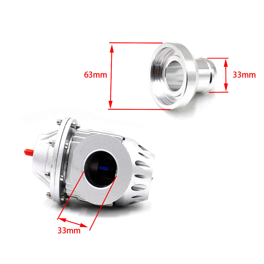 CNSPEED BLOW OFF VALVE BOV SQV 4 IV SSQV 4 IV Latest MODEL Silver Black blow dump blow off adaptor SQV4 without logo YC100385 in Valve Train from Automobiles Motorcycles