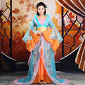 Antigua mujer dress película de la reina traje de hadas juego de la espiga hanfu chino ropa tradicional traje dress trailing