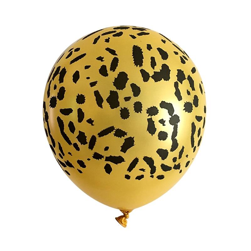 LQDIANTANG 10 шт воздушные шарики из латекса с животными новый воздушный шар леопардовой окраски лес игр тема джунгли вечерние украшения на день ...