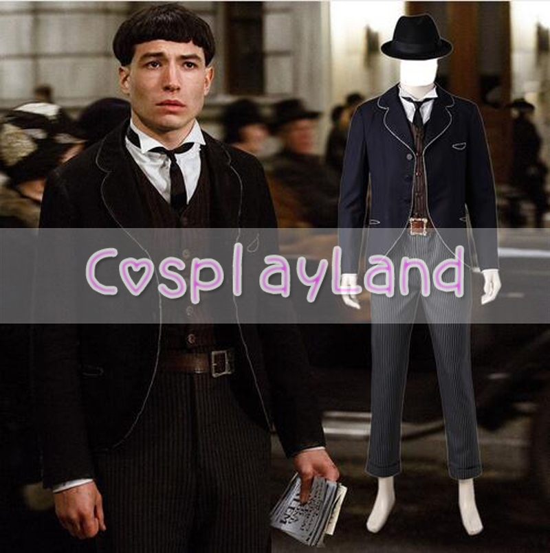 Fantastic Beasts and Where to Find Them Wizard Costume Credence Barebo Cosplay Adult Men's Carnival Halloween Cosplay