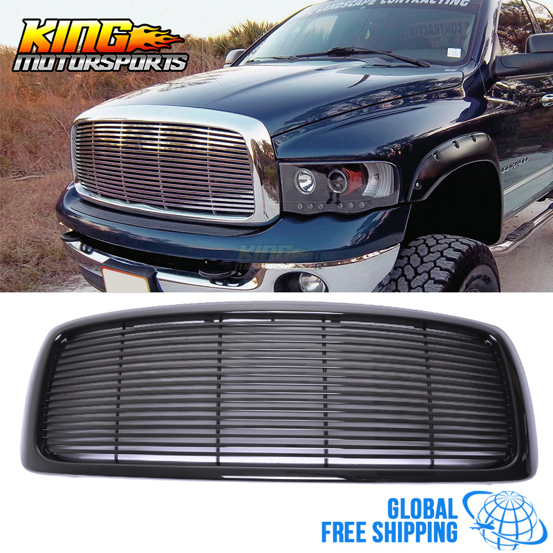 For 02-05 Dodge Ram 1500 03-05 Dodge Ram 2500 3500 Mesh Front Grille Unpainted - ABS Global Free Shipping Worldwide
