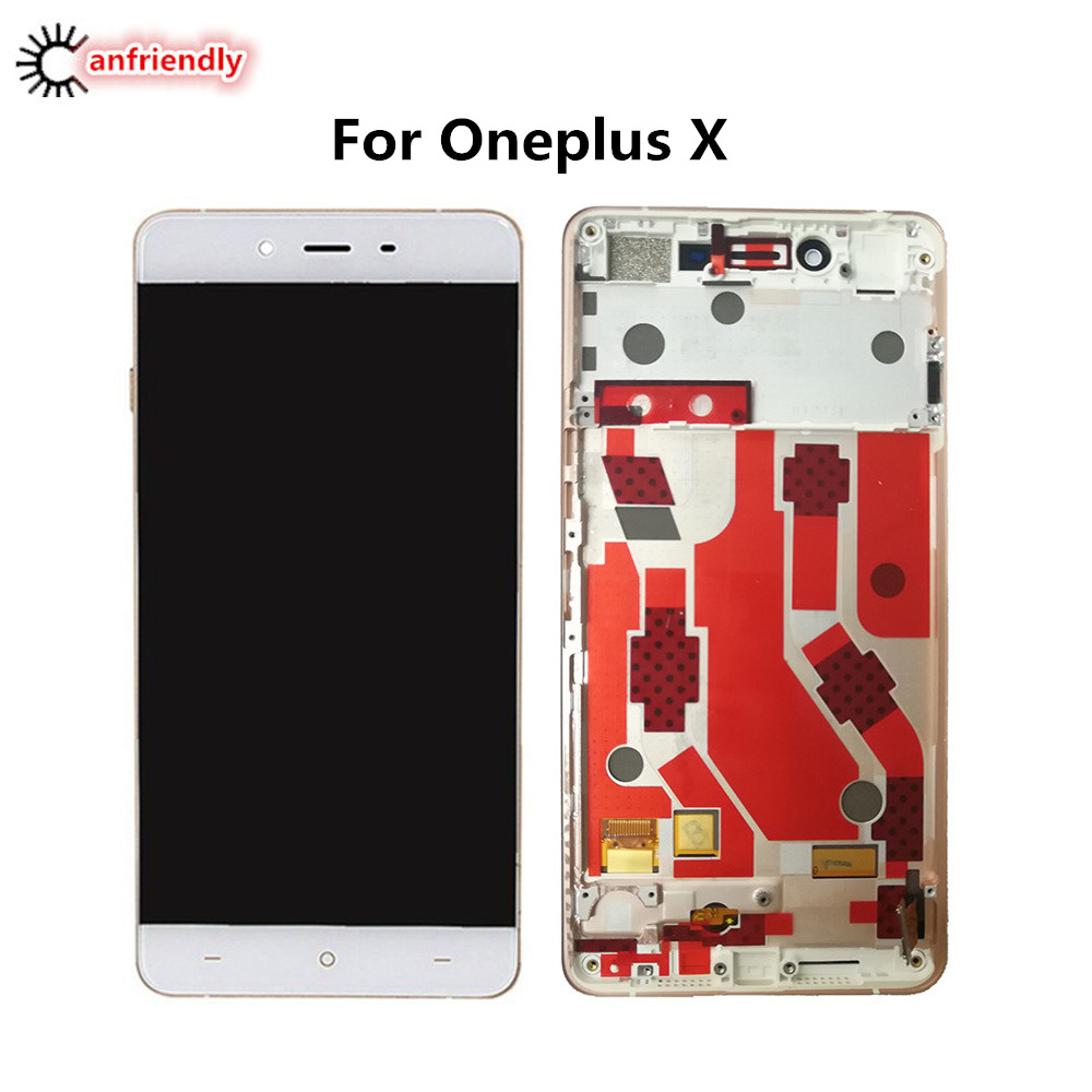 For OnePlus X LCD Display + Touch Screen With Frame Digitizer Assembly Replacement Glass Panel For One Plus X phone lcds Screen